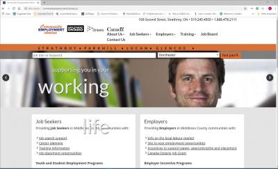 Community Employment Choices Website image