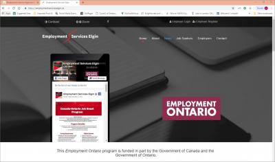 Employment Services Elgin Website image