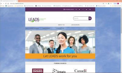 LEADS Employment Services Website image