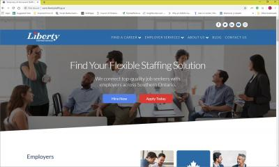 Liberty Staffing Services Website image
