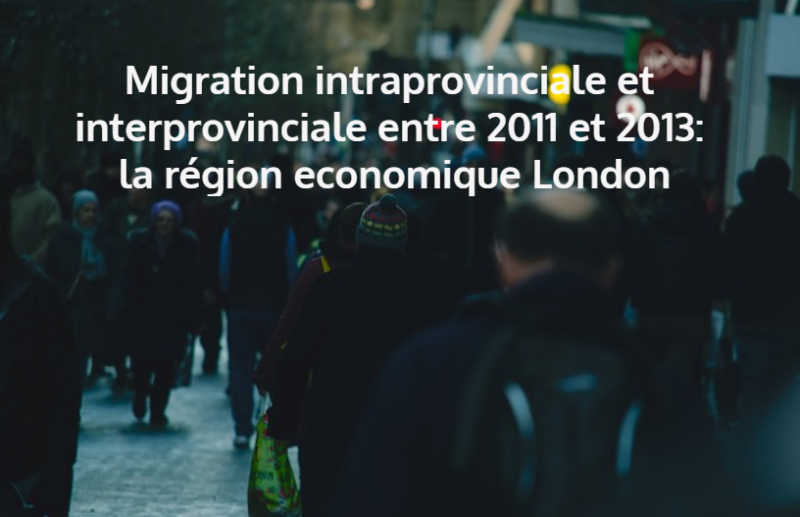 Migration intraprovinciale et interprovinciale entre 2011 et 2013: la région economique London - image