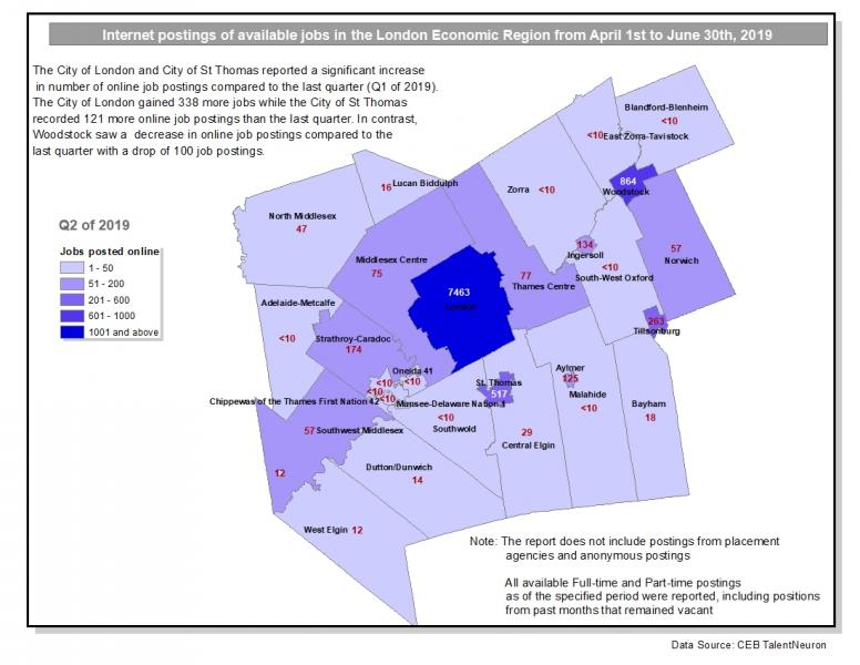 Map of available online jobs for Q2 of 2019