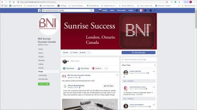BNI Sunrise Success London Chapter Website image