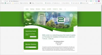 Business 2 Business London Networking Group Website image