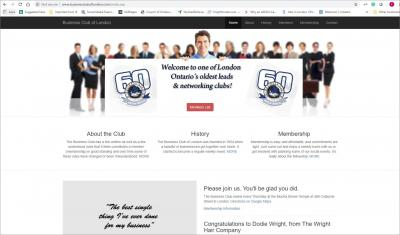 Business Club of London Website image