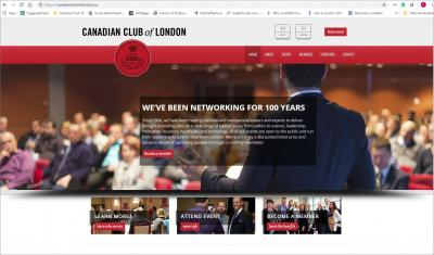Canadian Club of London Website image