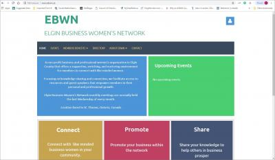 Elgin Business Women's Network Website image