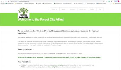 Forest City Allies Website image