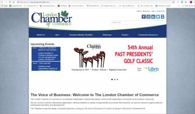 London Chamber of Commerce Website image