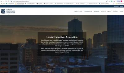 London Executives Association Website image