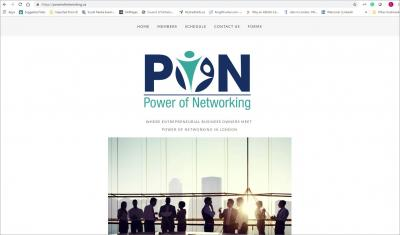 Power of Networking Website image