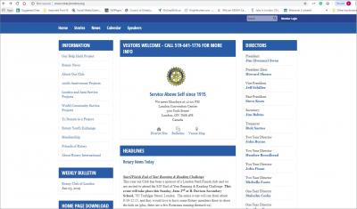 The Rotary Club of London Website image