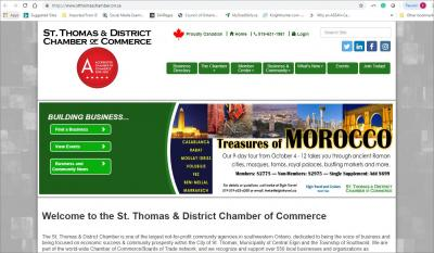 St. Thomas and District Chamber of Commerce Website image