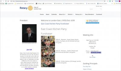 The Rotary Club of London East Website image
