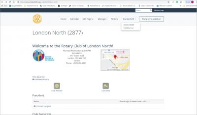 The Rotary Club of London North Website image