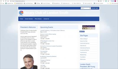 The Rotary Club of London South Website image