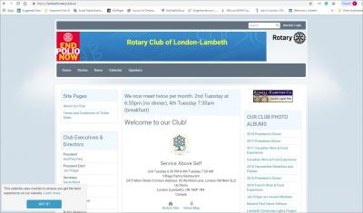 The Rotary Club of London-Lambeth Website image